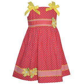 Toddler Girl Blueberi Boulevard Polka-Dot & Bows Sundress