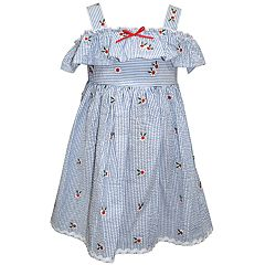 d98466894dd Toddler Girl Blueberi Boulevard Embroidered Striped Sundress