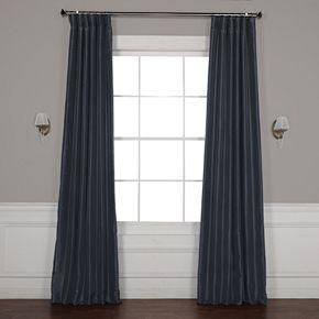 EFF Blackout Vintage Textured Faux Dupioni Silk Window Curtain