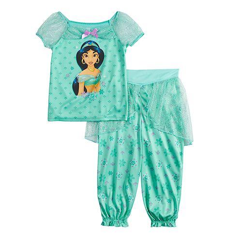 Disney Princess Jasmine Toddler Girl Fantasy Top & Bottoms Pajama Set