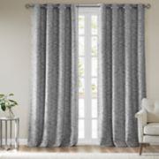 SunSmart Linden Woven Stripe Total Blackout Window Curtain