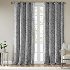 SunSmart Linden Woven Stripe Total Blackout Window Curtain