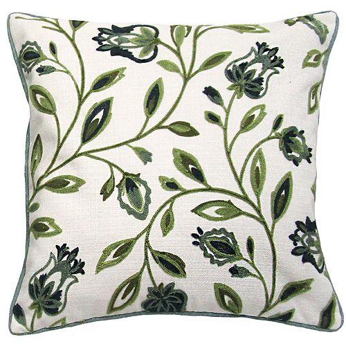 La Boheme Embroidered Throw Pillow