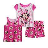 Disney's Minnie Mouse Toddler Girl Tops & Shorts Pajama Set