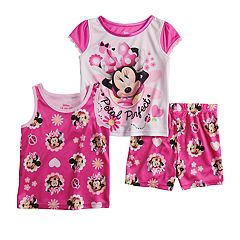 Disney s Minnie Mouse Toddler Girl Tops   Shorts Pajama Set 8fc96d256