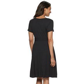 Women's Croft & Barrow® V-Neck Swing Dress