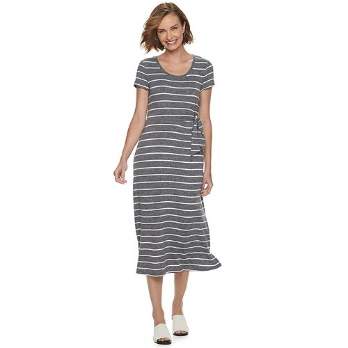 Women's Croft & Barrow® Slubbed Midi Dress