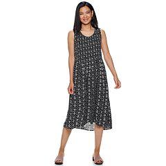 e346959c9f4c8 Women's Croft & Barrow® Print Challis Midi Dress