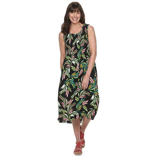 Women's Croft & Barrow® Print Challis Midi Dress