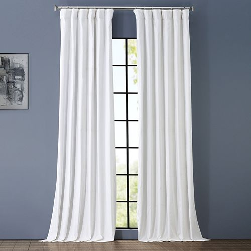 EFF Solid Cotton Blackout Window Curtain