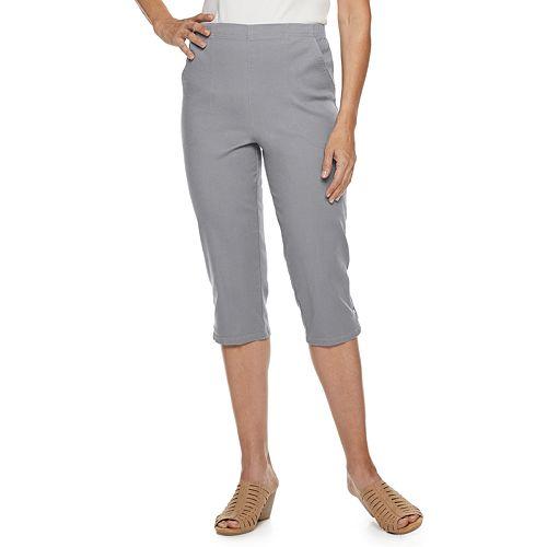 Women's Croft & Barrow® Snap-Hem Stretch Pull On Capris