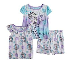Disney's Frozen Elsa Toddler Girl Tops & Shorts Pajama Set