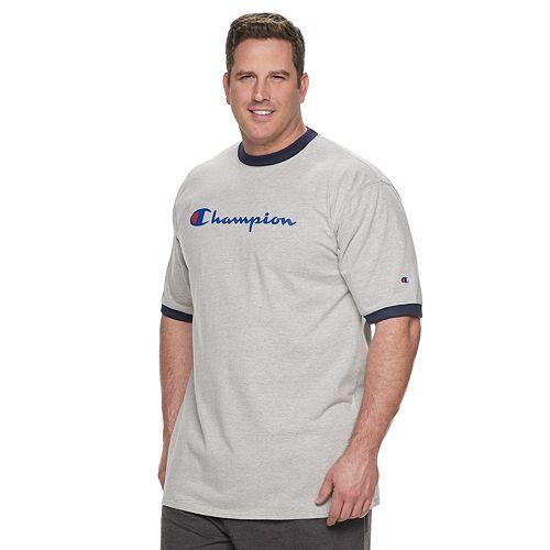 Big & Tall Champion Logo Ringer Tee