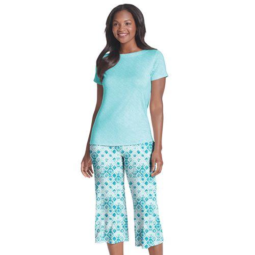 Plus Size Jockey Send Her Love Sleep Tee & Capri Pajama Set