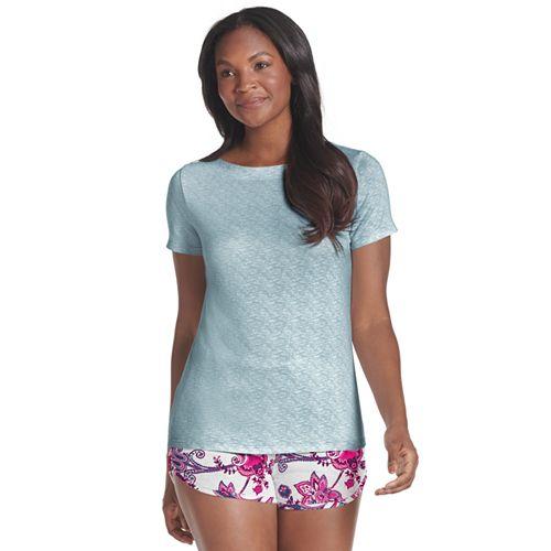 Plus Size Jockey Send Her Love Sleep Tee & Pajama Shorts Set