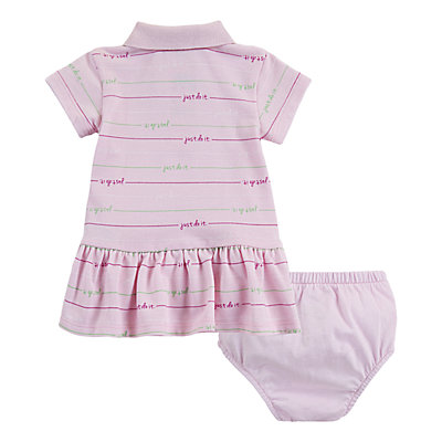 Baby Girl Nike Striped Polo Dress