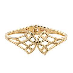 Dana Buchman Gold Tone Hinge Bracelet