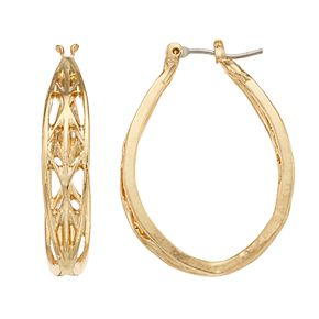 Dana Buchman Gold Tone Hoop Earrings