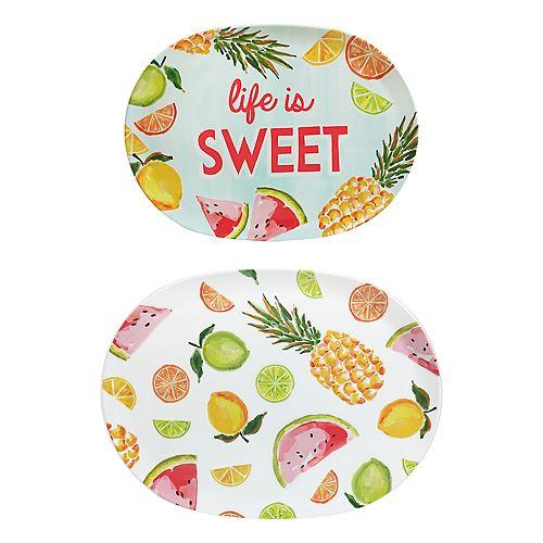 Celebrate Summer Together 2-pc. Fruit Tray Set