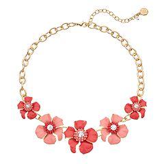 Dana Buchman Floral Frontal Necklace