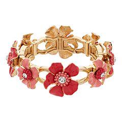 Dana Buchman Floral Stretch Bracelet