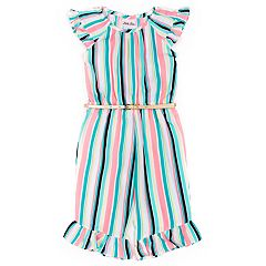 Toddler Girl Little Lass Striped Jumpsuit