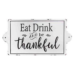 "Stratton Home Decor ""Be Thankful"" Wall Decor"