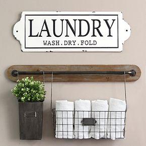 "Stratton Home Decor ""Laundry"" Wall Decor"