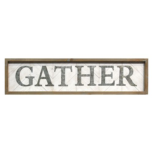 "Stratton Home Decor ""Gather"" Farmhouse Wall Decor"