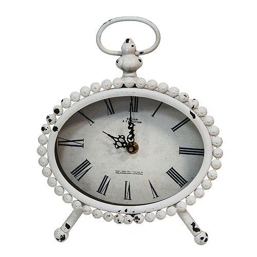 Stratton Home Decor Allie Shabby Chic Table Clock