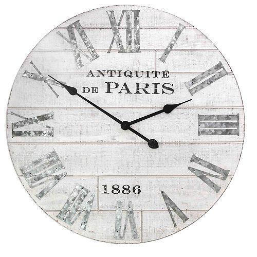 Stratton Home Decor Adrianna Wood Wall Clock