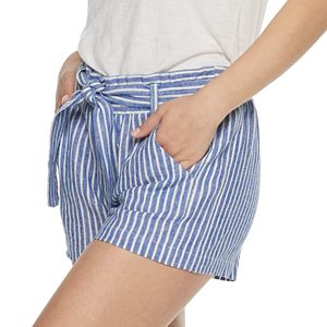 196fa0116786 NEW! Juniors' Almost Famous Paperbag Waist Soft Shorts