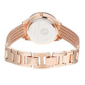 Women's Adrienne Vittadini Mesh Watch & Tri-Tone Bracelet Set