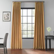 EFF Blackout Vintage Textured Faux Dupioni Window Curtain