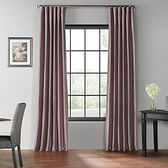 EFF Blackout Vintage Textured Faux Dupioni Window Curtain