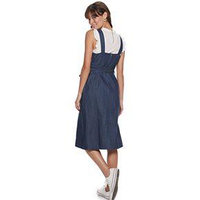 Women's POPSUGAR Belted Denim Dress