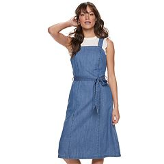 Women's POPSUGAR Belted Denim Dress
