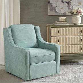 Madison Park Lois Chenille Swivel Chair