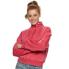 Juniors' SO® Fleece Half-Zip Sweatshirt