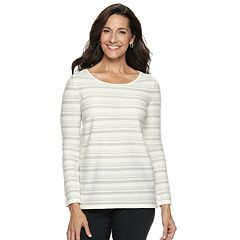 Women's Dana Buchman Lurex-Stripe Sweater