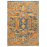 Nourison Passion Teal Sun Area Rug