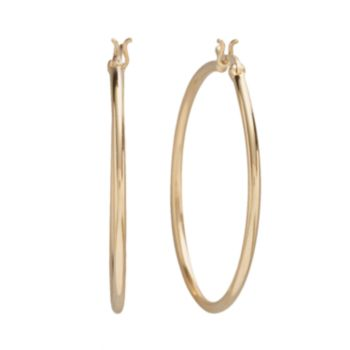 Primavera 24k Gold-Over-Silver Hoop Earrings