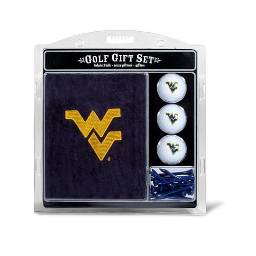 Team Golf West Virginia Mountaineers Embroidered Towel Gift Set
