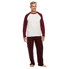 Men's Haggar Micro-Suede Raglan Top & Lounge Pants Set