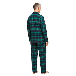 Men's Haggar Cotton Flannel Pajama Set