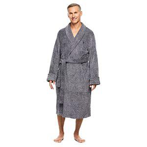 Men's Haggar Marled Shawl-Collar Fleece Robe