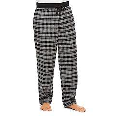 Men's Haggar Plaid Cotton Flannel Lounge Pants