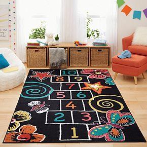 Mohawk® Home Aurora Kids Interactive Hopscotch Chalk Wear-Dated Rug