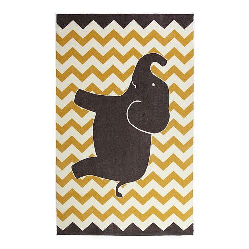 Mohawk® Home Aurora Kids Interactive Lucky Elephant Wear-Dated Rug