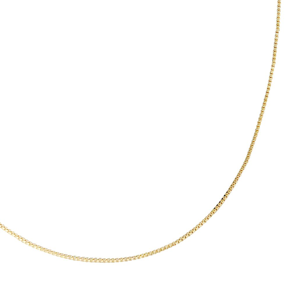 24k Gold-Over-Sterling Silver Venetian Box Chain Necklace - 18-in.